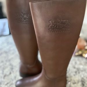 Coach brown riding boots - brand new real leather